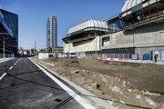 Stav bulváru Mlynské nivy v Bratislave 21. októbra 2020.
