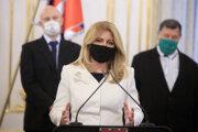Prezidentka po stretnutí s expertmi v súvislosti s aktuálnou pandemickou situáciou.