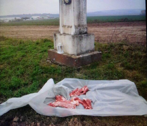Dva dni po sebe niekto vyhodil kosti a vnútornosti z oviec na pole medzi obcami Kuzmice a Jacovce.