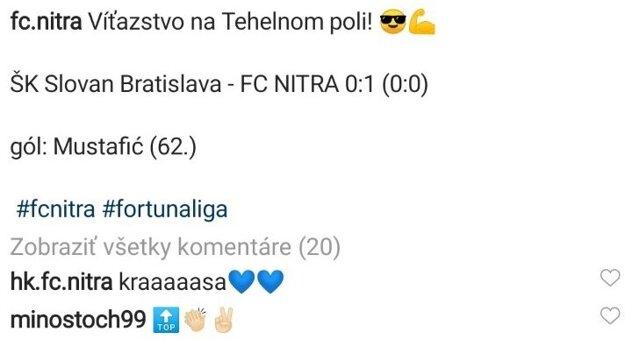 Svojim rodákom gratuloval na sociálnej sieti aj aktuálne najslávnejší nitriansky futbalista Miroslav Stoch.