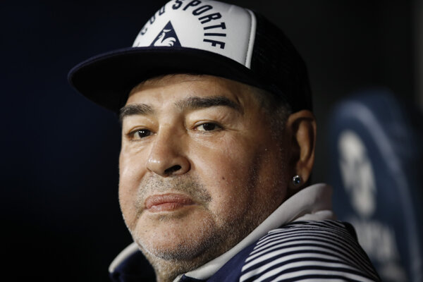 Diego Maradona v marci 2020.