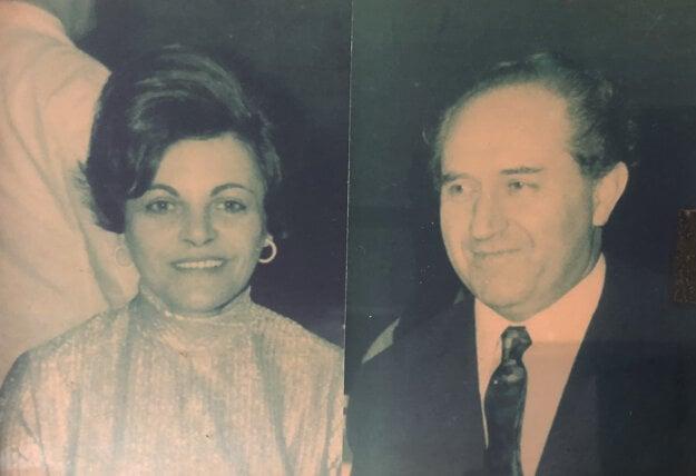 Mikuláš Škrek s manželkou Ester