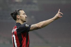 Švédsky útočník v službách AC Miláno Zlatan Ibrahimovič.