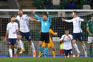 Momentka po zápase Severné Írsko - Slovensko, baráž EURO 2020.