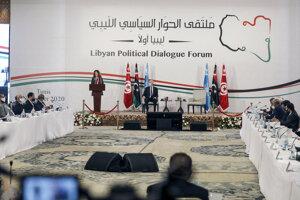Na šesťdňovom fóre v tuniskom hoteli rokuje 75 líbyjských delegátov, ktorých poverila OSN.