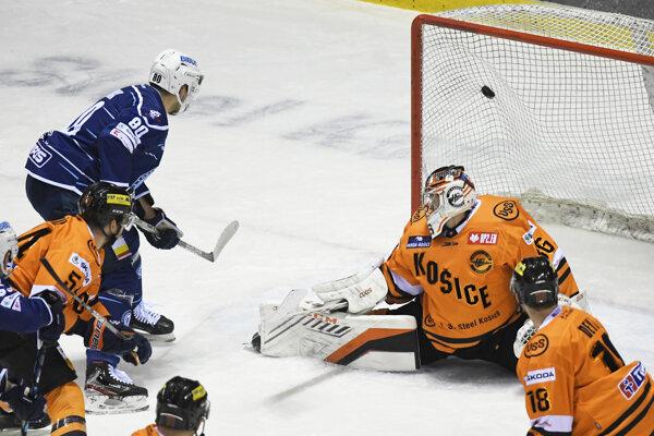 Momentka zo zápasu HC Košice - HK Nitra.
