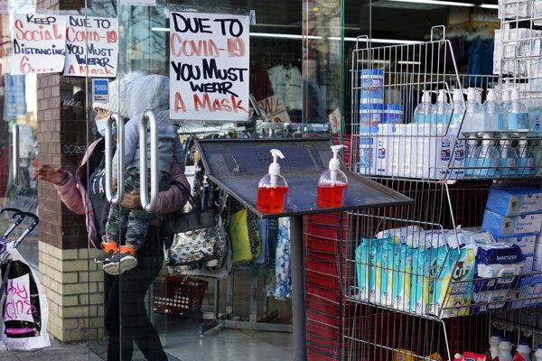 Obchodíky v New Jersey.