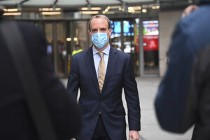 Britský minister zahraničných vecí Dominic Raab.