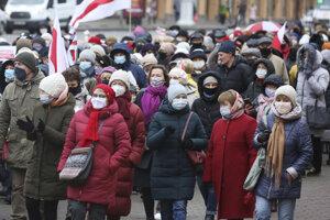 Protestujúci dôchodcovia žiadali odstúpenie Lukašenka.