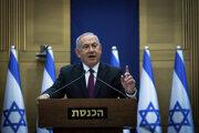 Benjamin Netanjahu počas svojho vyhlásenia.