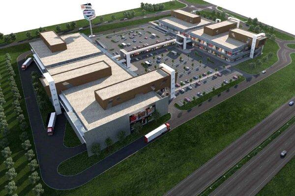 Vizualizácia centra na Hodonínskej ceste.
