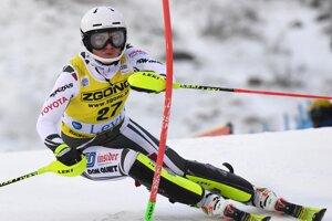 Martina Dubovská počas slalomu v Levi 2020.