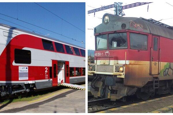 Vlak z Košíc do Lipian. Moderné dvojpodlažné elektrické  vlaky sú už minulosťou.