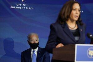 Zvolený prezident USA Joe Biden a viceprezidentka USA Kamala Harrisová.