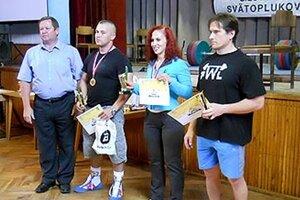 Zľava Vladimír Kertész (riaditeľ Cedron Cupu), Michal Demeter, Ivana Horná a Pavol Slíž.