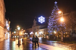 Pusté centrum Košíc na Silvestra.