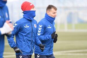 Boris Turčák a Martin Košťál na prvom tréningu v FK Senica.