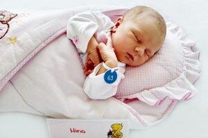 Nina Masariková z Handlovej sa narodila 18.12. 2020 v Bojniciach