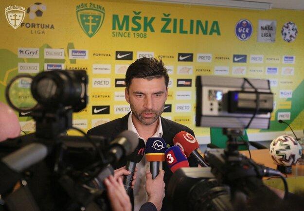 Pavol Staňo na tlačovke pred začiatkom jarnej časti Fortuna ligy 2019/2020