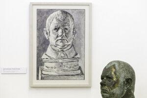 Dielo Portrét vlastnej busty Ernesta Zmetáka.