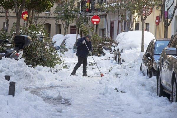 Sneh v Španielsku.