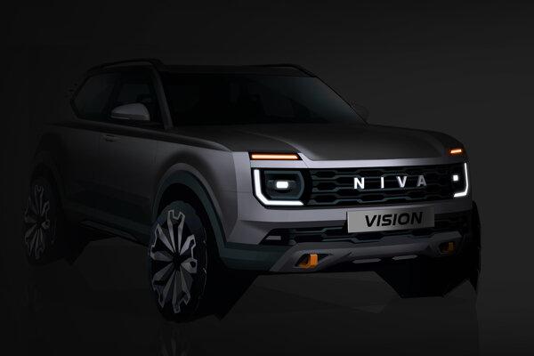 Nová Lada Niva Vision na prvej skici. Do výroby pôjde o tri roky.