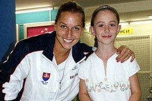 Nina Húsková na snímke spred 3 rokov s Dominikou Cibulkovou.