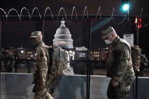 Vojaci Národnej gardy USA vo Washingtone.