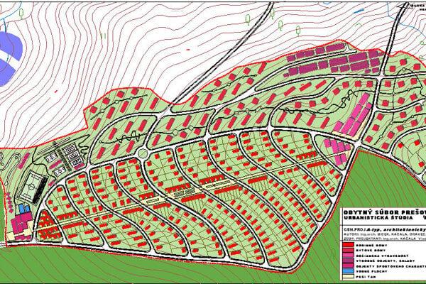Mapa s umiestnením štvrte Stavenec.
