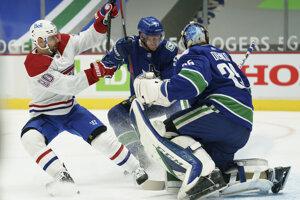 Tomáš Tatar v zápase Vancouver - Montreal.