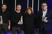 Laureáti ocenenia Biela vrana 2020 (zľava) Andrej Belák, manželia Jolana a Štefan Nátherovci, Jaroslav Macek.