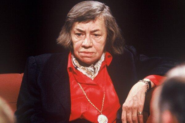 Americká spisovateľka Patricia Highsmith v roku 1988.