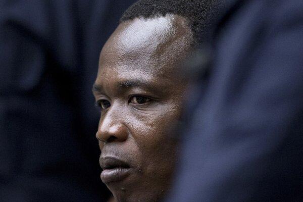 Dominic  Ongwen na súde.
