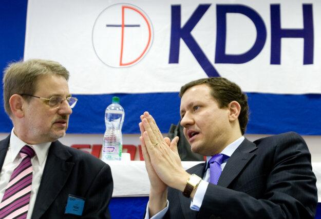 S Martinom Froncom na Rade KDH v roku 2009.