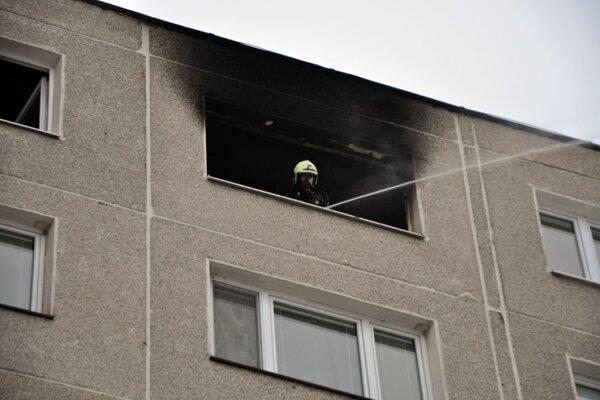 Požiar bytu v Dolnom Kubíne.