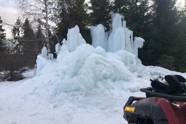 Ľadopád na Ostrom vrchu.