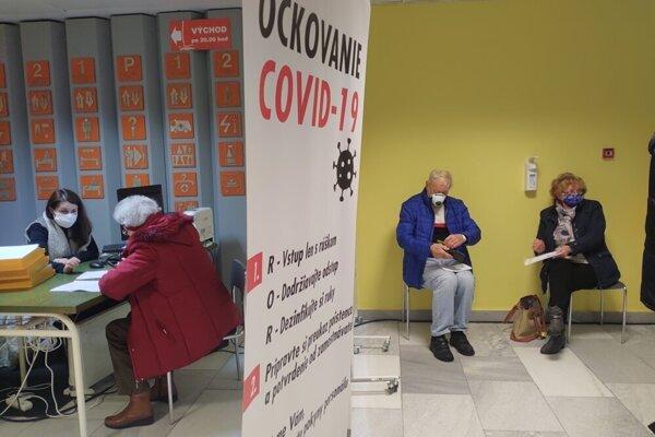 Vakcinácia v prešovskej nemocnici.
