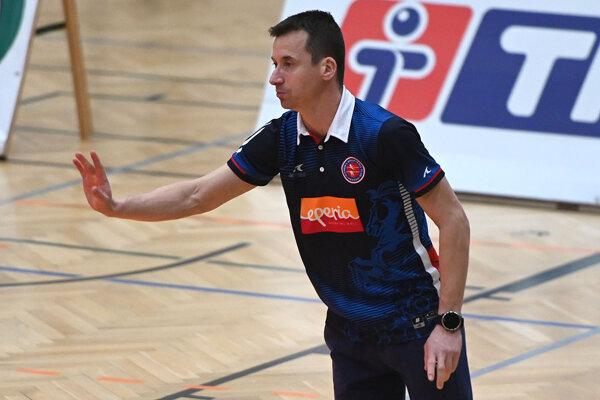 Tréner VK Prešov Roman Németh.
