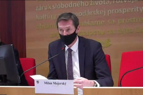 Zastupiteľstvo viedol župan Milan Majerský (KDH).