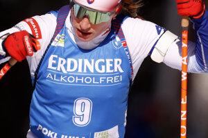 Paulína Fialková na MS v biatlone 2021.