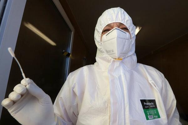 Testovanie proti novému koronavírusu.