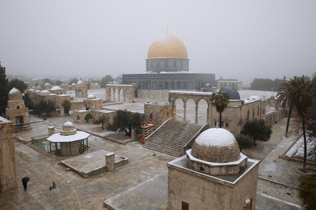 Mešita Skalný dóm v komplexe Mešity al-Aksá.