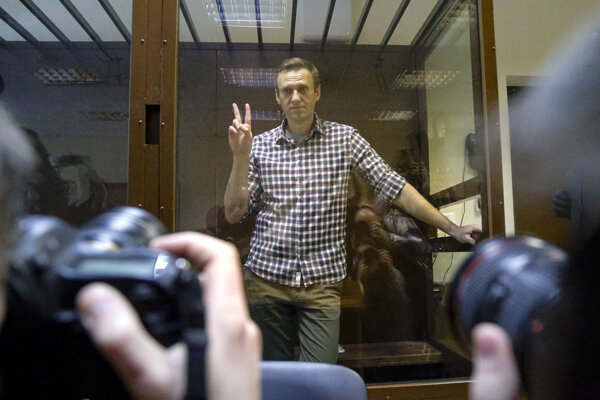 Alexei Navalny na súde.