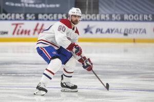 Tomáš Tatar v drese tímu Montreal Canadiens.