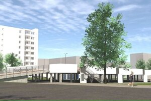Budúca podoba plánovaného parkoviska na Rastislavovej.