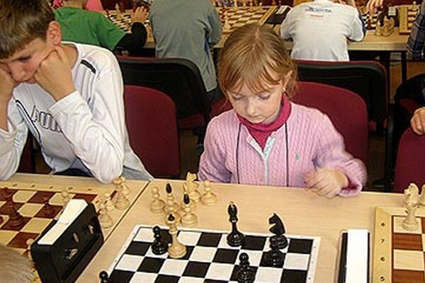 Víťazka kategórie do 8 rokov Alexandra Tomšíková.