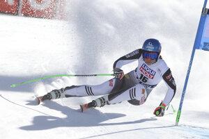 Petra Vlhová v super-G žien Svetového pohára v alpskom lyžovaní v talianskom stredisku Val di Fassa.