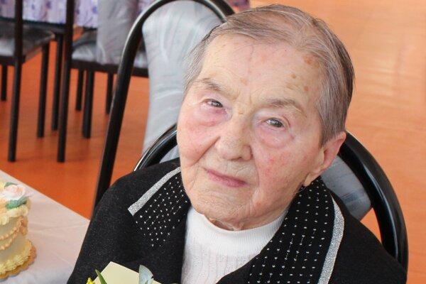 Oslávenkyňa Helena Bérešová.