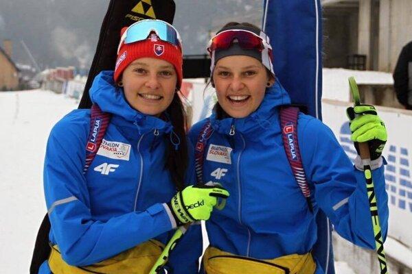 Biatlonové dvojicky Mária a Zuzana Remeňové.