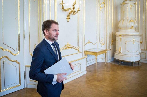 4. marec 2020. Prezidentka Zuzana Čaputová poverila zostavením vlády Igora Matoviča, ktorého hnutie OĽaNO zvíťazilo v parlamentných voľbách.